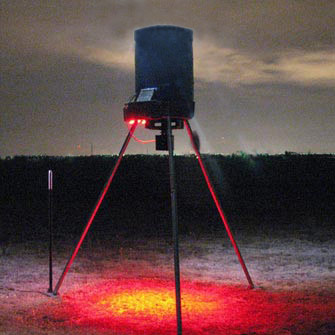 Hog Hunting with Feeder Lights at Night